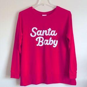 Santa Baby Maternity Lounge Sweatshirt XXL -New